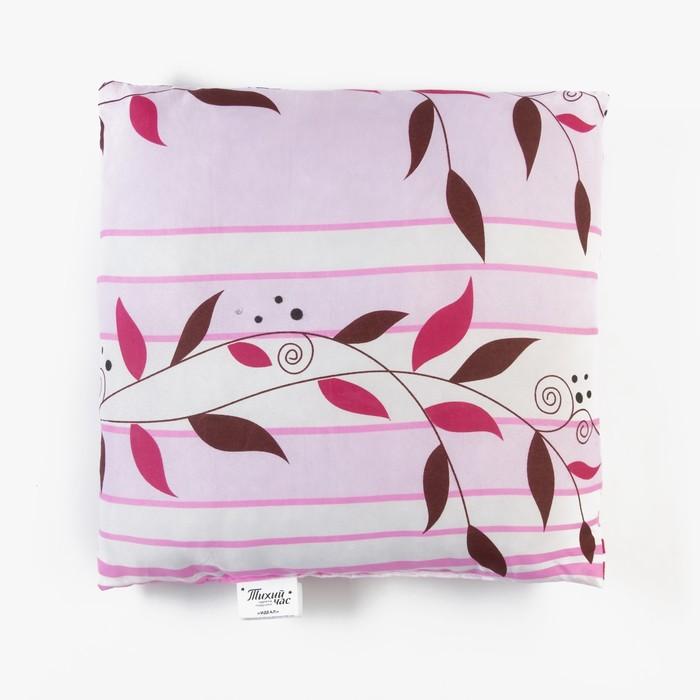 Подушка высокая Тихий Час Идеал, размер 40х40 см, силиконизированное волокно, ткань смесовая