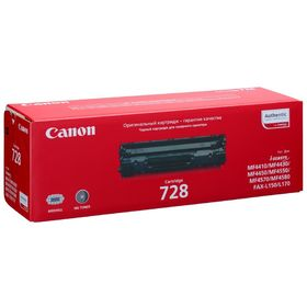 Картридж Canon 728 3500B010 для MF4410/4430/4450/4550/4570/4580/4580dn (2100k), черный
