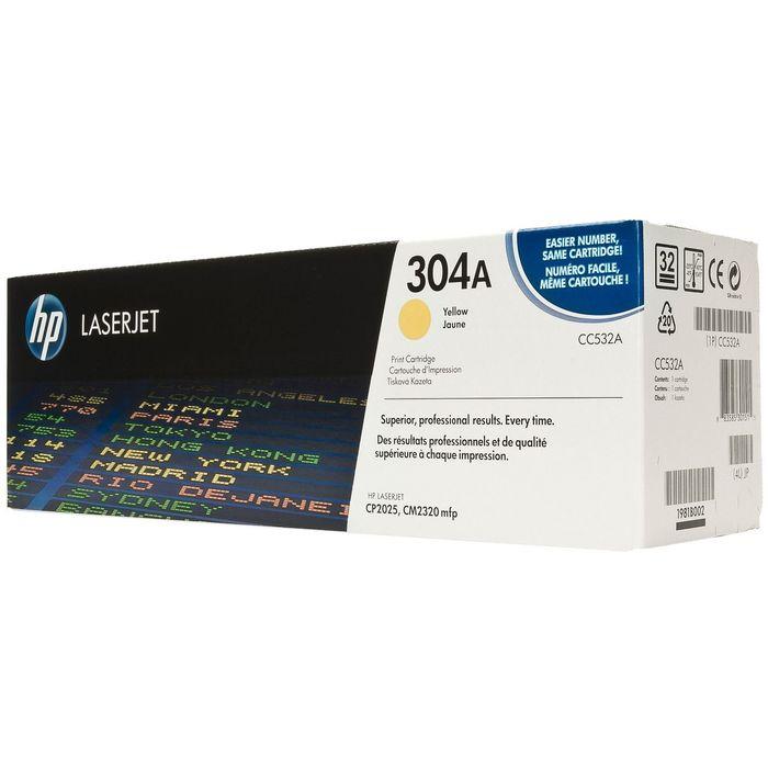 Тонер Картридж HP 304A CC532A желтый для HP LJ CP2025/CM2320 (2800стр.)