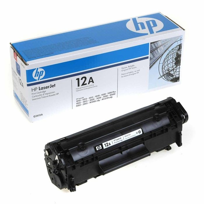 Тонер Картридж HP 12A Q2612A черный для HP LJ 1010/1012/1015/1018/1020/1022 (2000стр.)