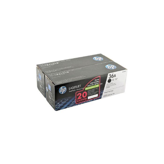 Тонер Картридж HP 36A CB436AF черный x2уп. для HP LJ P1505 (4000стр.)