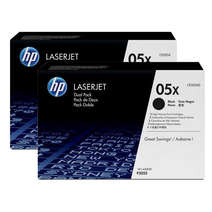 Тонер Картридж HP CE505XD черный x2уп. для HP LJ P2055 (6500стр.)