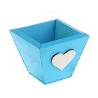 Ящик реечный синее, мини, 11 х 11 х 9,5 см - фото 408318