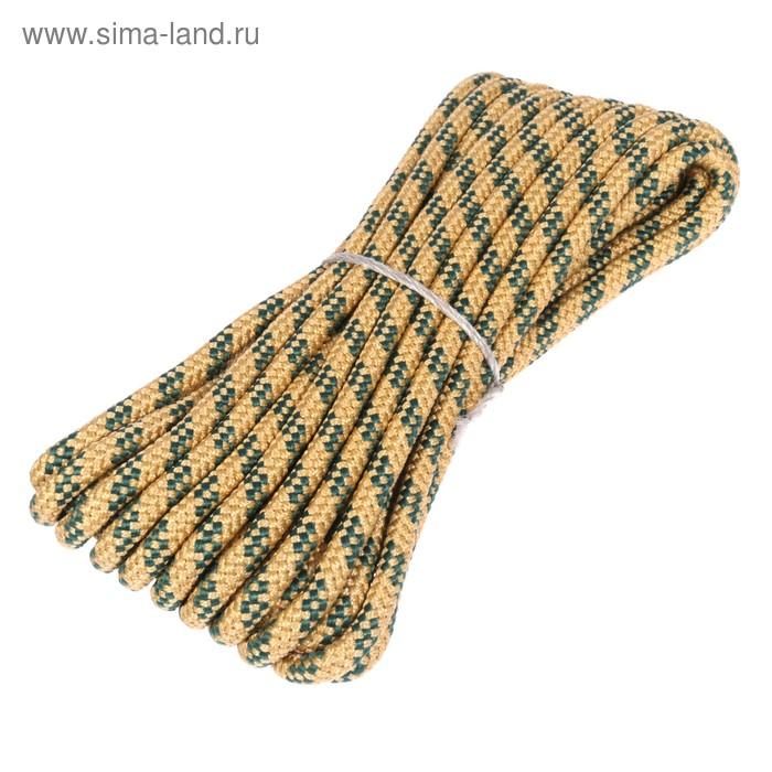 Шнур плетеный полипропиленовый, 24 прядный d=10 мм (длина 10 м), цвет МИКС