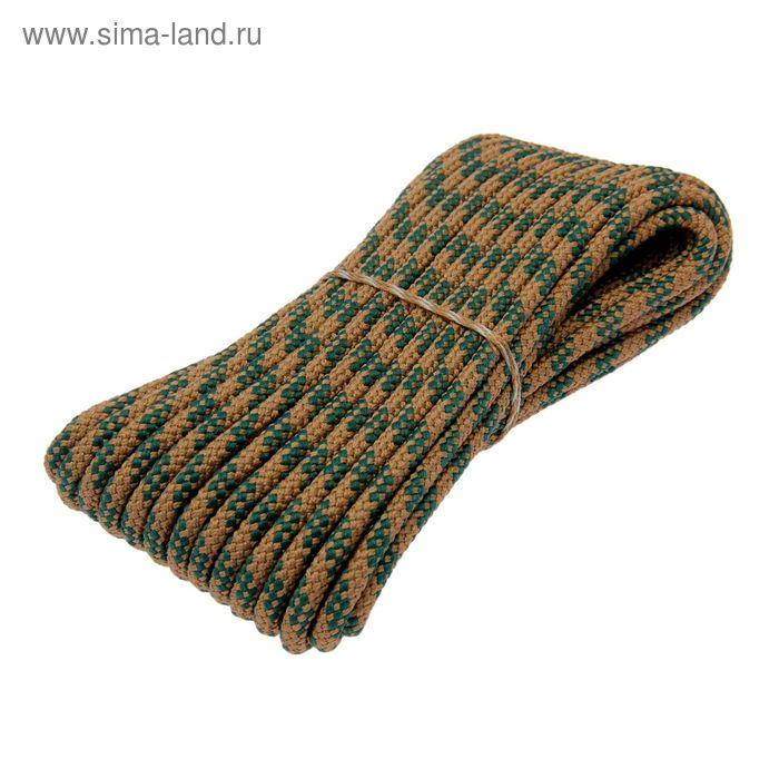 Шнур плетеный полипропиленовый, 24 прядный d=8 мм, длина 20 м, цвет МИКС