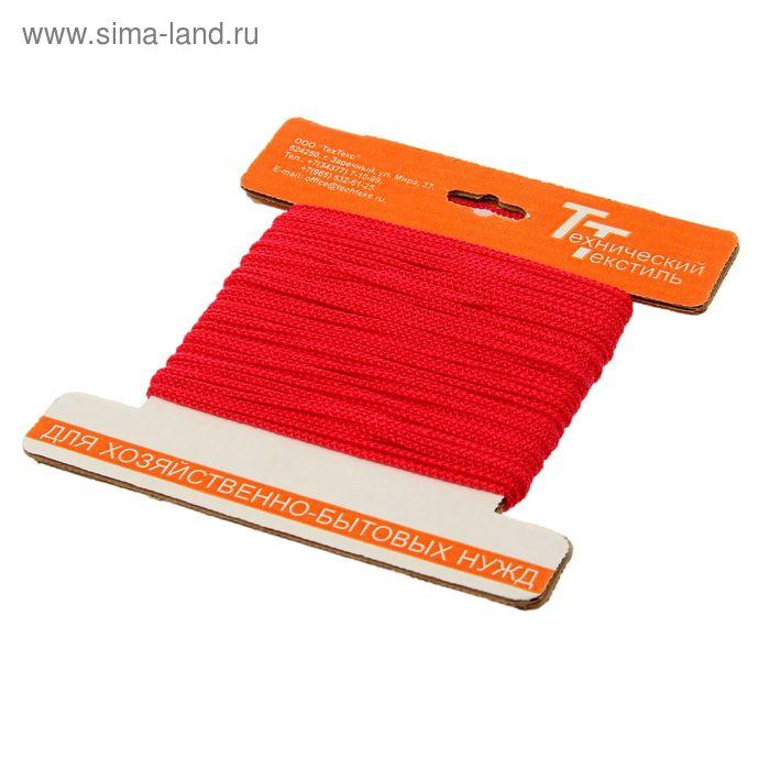 Шнур полипропиленовый, вязаный d=2 мм (длина 30 м), цвет красный
