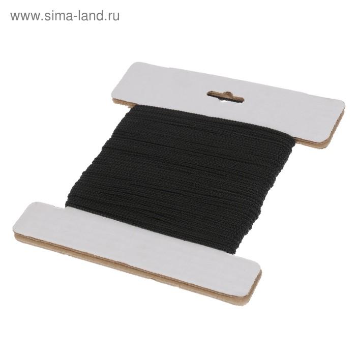 Шнур полипропиленовый, вязаный d=2 мм (длина 30 м), цвет черный