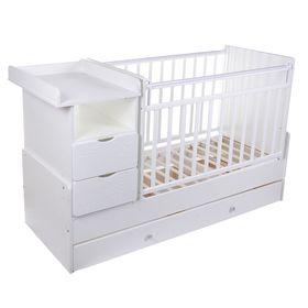 Детская кровать-трансформер «Жираф» на маятнике, цвет белый
