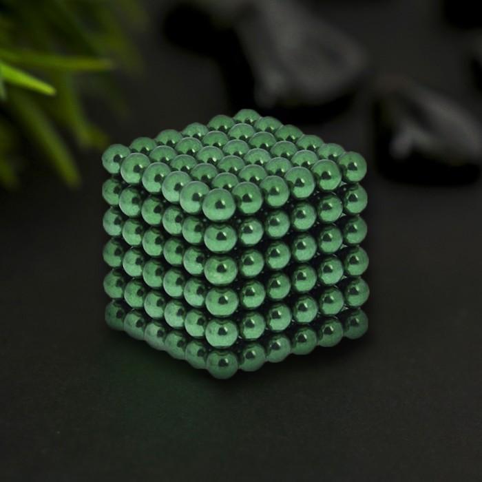 """Антистресс магнит """"Неокуб"""" 216 шариков d=0,5 см (зелёный) - фото 1676877"""