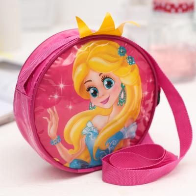 """Сумочка детская """"Принцесса"""" круглая с короной, d=15,5см"""