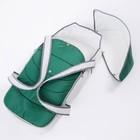 Люлька-переноска, цвет серый-зелёный - фото 105549528