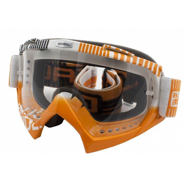 Кроссовая маска B-Flex ETR, бело-оранжевая