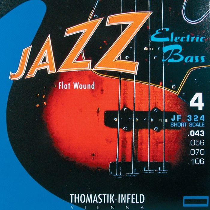 Комплект струн для бас-гитары Thomastik JR344 Jazz Round Wound