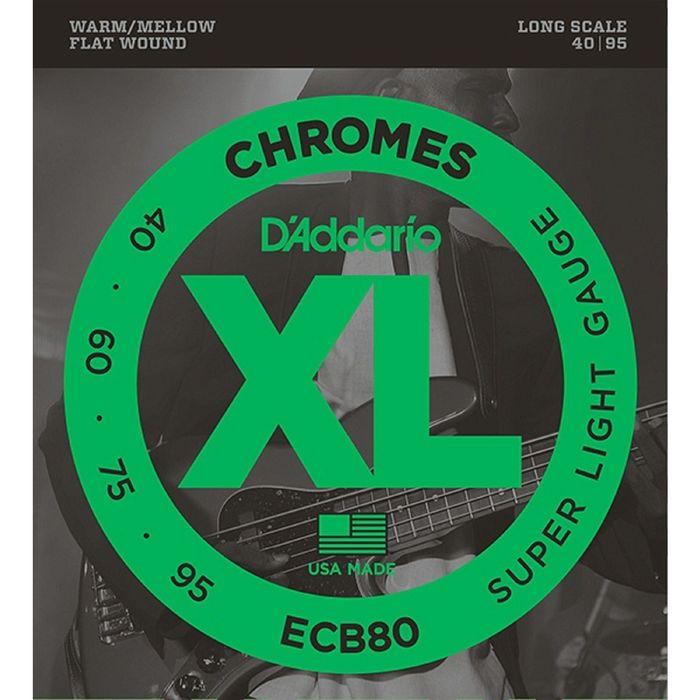 Комплект струн для  бас-гитары D'Addario ECB80 Chromes