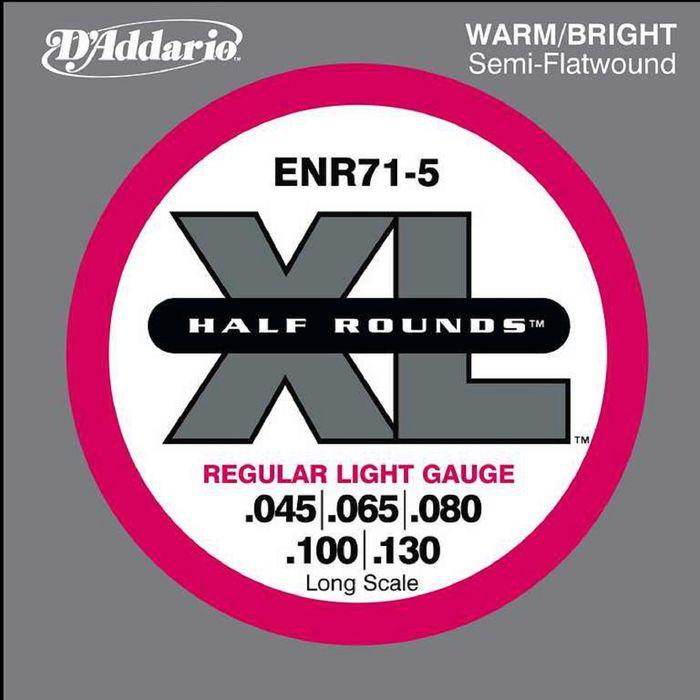 Комплект струн для 5-струнной бас-гитары D'Addario ENR71-5 Half