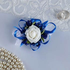 """The armband for bridesmaids """"rose"""" on the band, blue"""