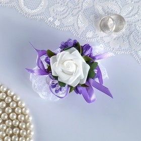 """The armband for bridesmaids """"rose"""" on the band, lilac"""