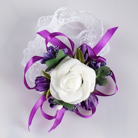 """The armband for bridesmaids """"rose"""" on the band, purple"""