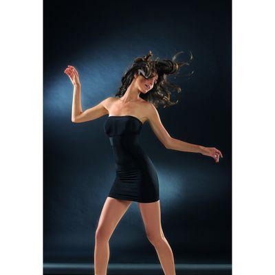 Моделирующее платье CB-TUBINO Control Body gold nero 2-S/M
