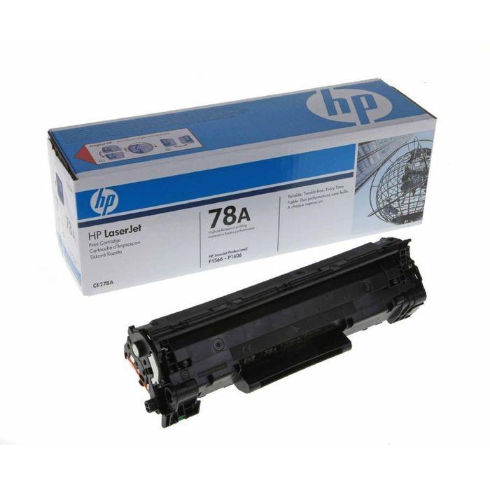 Тонер Картридж HP 78A CE278A черный для HP LJ P1566/P1606w/M1536 (2100стр.)