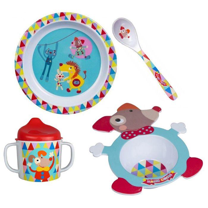 Набор посуды 4 предмета Ebulobo «Волшебный Цирк»