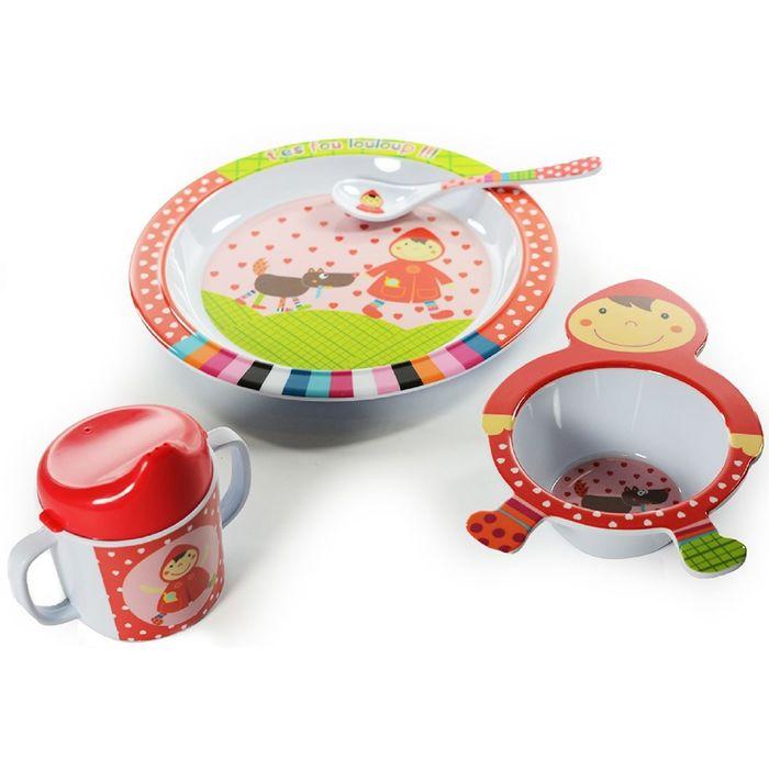 Набор посуды 4 предмета Ebulobo «Красная шапочка»