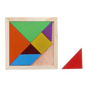 "Puzzle ""Tangram"" square, figures 7 items, 7 colors"