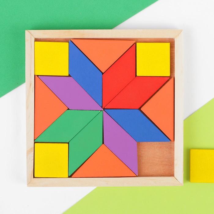 Головоломка квадратная, 16 деталей