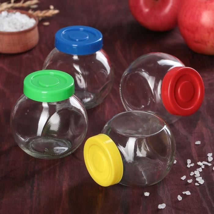 "A set of jars for bulk 200 ml ""Brightness"", 4 PCs, MIX color"