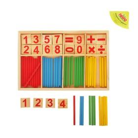 Счётные палочки, цифры и знаки, 72 элемента Ош