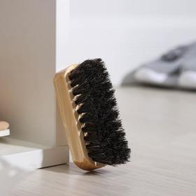 Щётка для обуви Тарри, 9×3,5 см, конский волос
