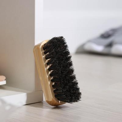 Щетка для обуви, с конским волосом 9,4 см