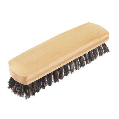 Щетка для обуви, с конским волосом 18,3 см, цвет МИКС
