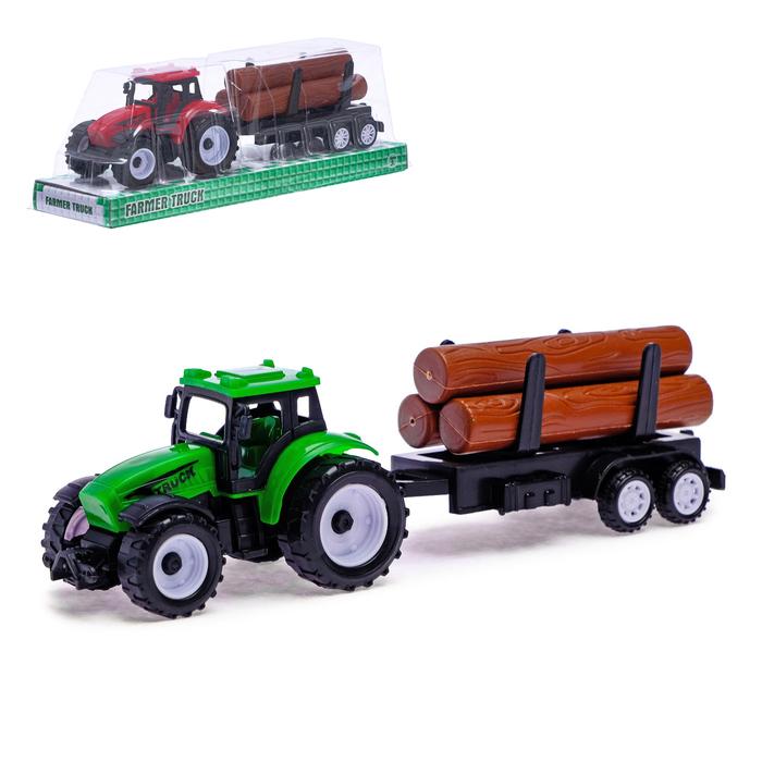 Трактор инерционный «Фермер», с прицепом