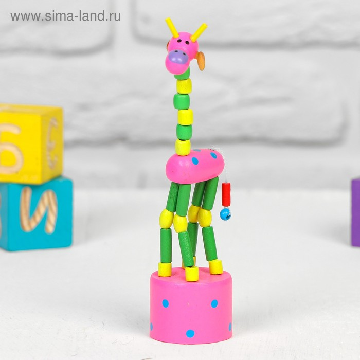 "Дергунчик-марионетка ""Жираф"", цвета МИКС"