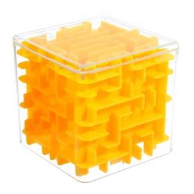 """A puzzle-maze """"Square"""", color: yellow"""
