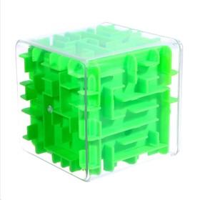"""A puzzle-maze """"Square"""", color: green"""