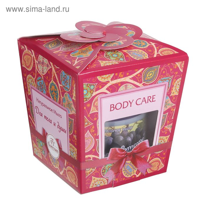 """Подарочный набор """"Для тела и души"""" """"Алтай"""" Мыло д/душа и бани «Чёрный виноград», 450мл, + мочалка"""