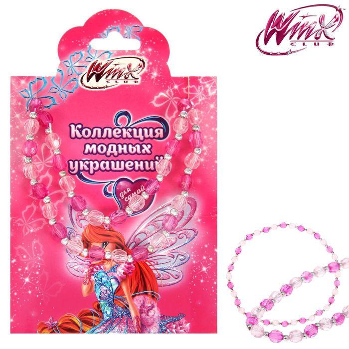 Бусы Феи Винкс (розовый фон), 10 х 12 см