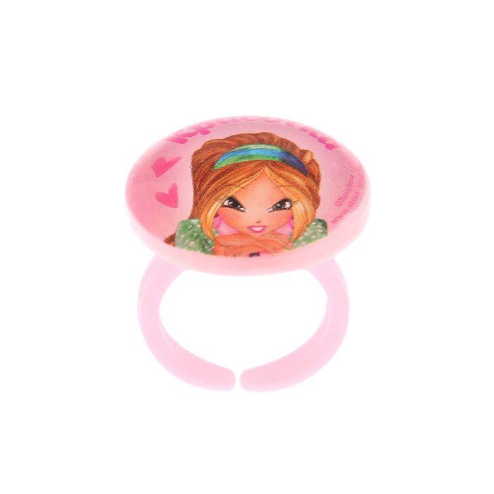 """Набор детский: бусы, браслет, кольцо """"Красотка"""", Феи Винкс: Флора, 12,5 х 13 см - фото 515353682"""
