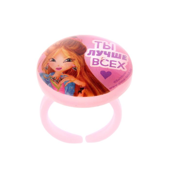 """Набор детский: бусы, браслет, кольцо """"Ты лучше всех"""", Феи Винкс: Флора, 12,5 х 13 см - фото 405867732"""