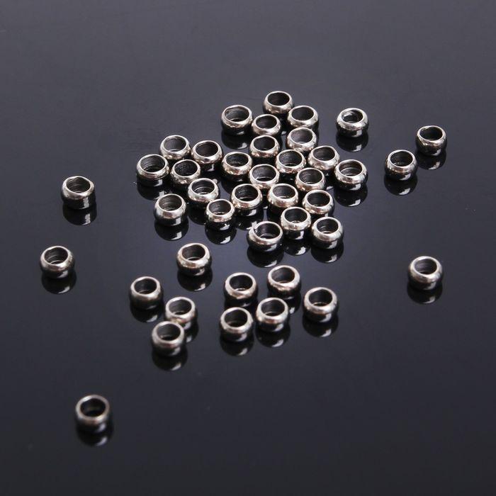 Кримп (зажимная бусина) СМ-355, (набор 50шт) 3мм, цвет серебро