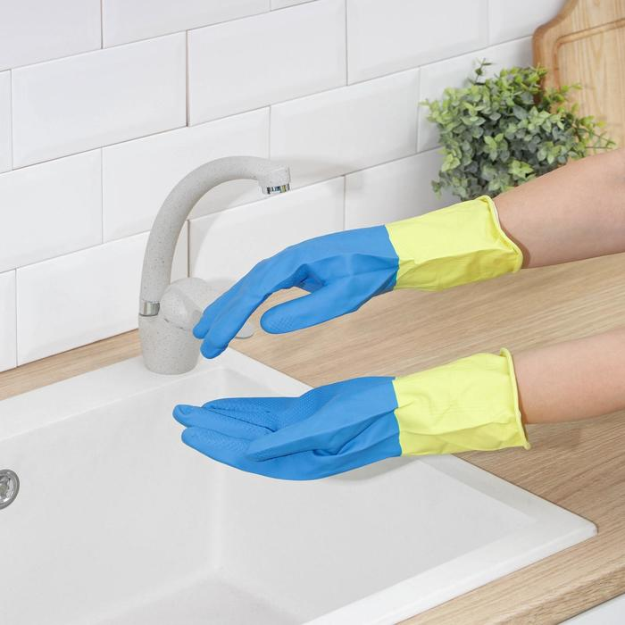Latex gloves thick, size M