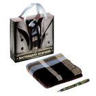 """Подарочный набор """"Настоящему мужчине"""": шарф, ручка"""
