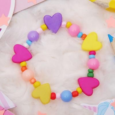 """Bracelet child """"Vibracula"""" hearts matte color MIX"""
