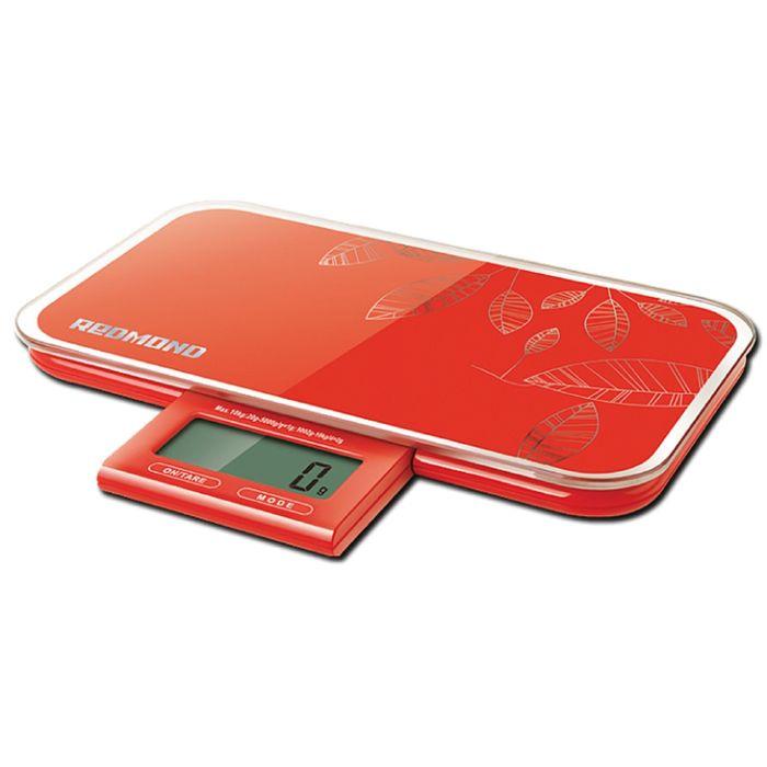 Весы кухонные Redmond RS-721, электронные, до 10 кг, красный