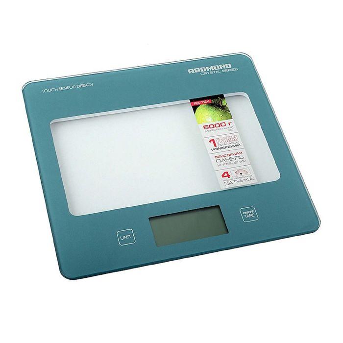 Весы кухонные Redmond RS 724, электронные, до 5 кг, голубые