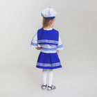 Карнавальный костюм «Морячка», рубашка, юбка, бескозырка, гюйс, р. 122-128 см, 6-7 лет - фото 105521868