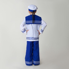 Карнавальный костюм «Моряк», рубашка, брюки, бескозырка, гюйс, р. 122-128 см, 6-7 лет - фото 105521875