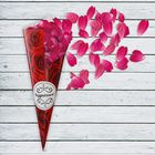 """Кулёк для праздника """"Розы"""" с наклейкой (набор 6шт), р-р. 21х14,8см"""